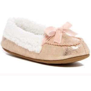 Jessica Simpson Metallic Pink Slip On Slippers